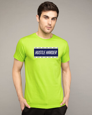 Shop Train And Hustle Half Sleeve T-Shirt-Front