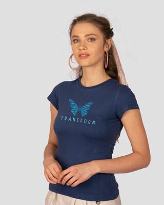 Shop Transform Butterfly Half Sleeve T-Shirt-Front