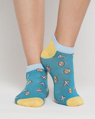 Shop Travel Fa No Show Socks-Front