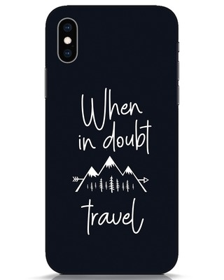 Shop Travel iPhone XS Mobile Cover-Front