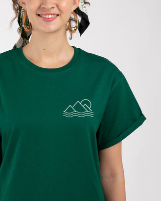 Shop Travel Minimal Boyfriend T-Shirt-Front