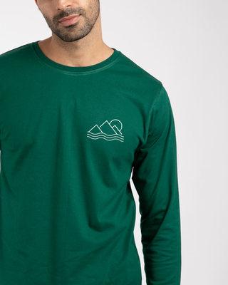 Shop Travel Minimal Full Sleeve T-Shirt-Front