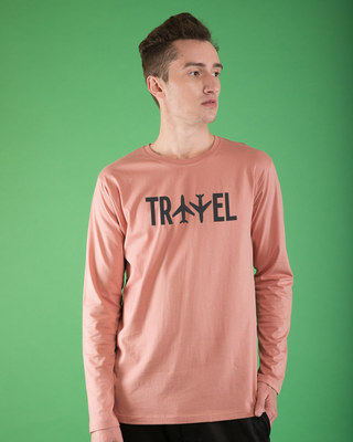 Shop Travel Plane Full Sleeve T-Shirt-Front