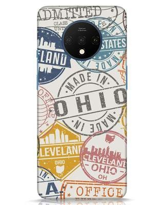 Shop Travel Stamps OnePlus 7T Mobile Cover-Front