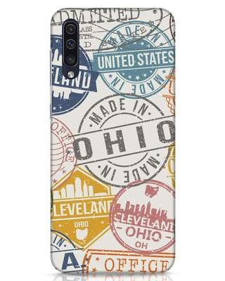 Shop Travel Stamps Samsung Galaxy A50 Mobile Cover-Front