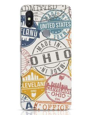 Shop Travel Stamps Xiaomi Redmi Y2 Mobile Cover-Front
