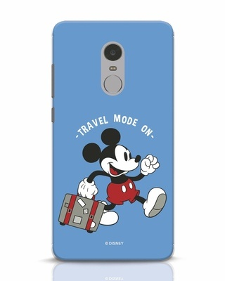 Shop Traveller Mickey Xiaomi Redmi Note 4 Mobile Cover (DL)-Front