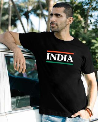 Shop Tri Color Men's T-Shirts-Front