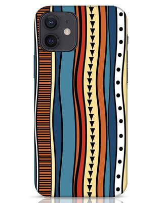 Shop Tribal Wave iPhone 12 Mobile Cover-Front