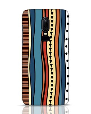 Shop Tribal Wave OnePlus 6 Mobile Cover-Front