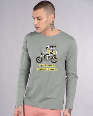 Shop Tripling Full Sleeve T-Shirt-Front
