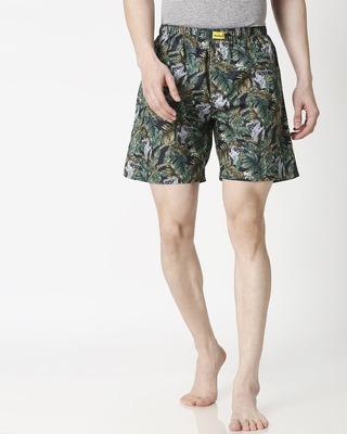 Shop Tropical Forest Side Pocket Men's Boxers-Front