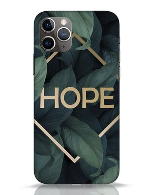 Shop Tropical Leaves Hope iPhone 11 Pro Mobile Cover-Front