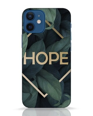 Shop Tropical Leaves Hope iPhone 12 Mini Mobile Cover-Front