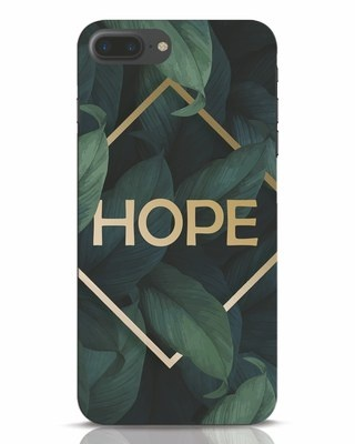 Shop Tropical Leaves Hope iPhone 7 Plus Mobile Cover-Front