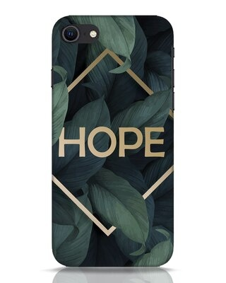 Shop Tropical Leaves Hope iPhone SE 2020 Mobile Cover-Front