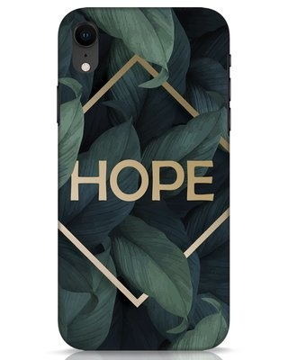 Shop Tropical Leaves Hope iPhone XR Mobile Cover-Front