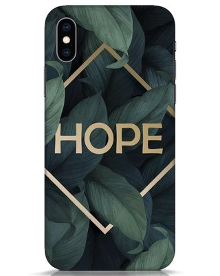 Shop Tropical Leaves Hope iPhone XS Mobile Cover-Front