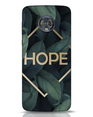 Shop Tropical Leaves Hope Moto G6 Mobile Cover-Front