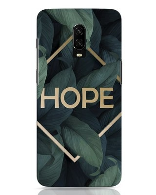 Shop Tropical Leaves Hope OnePlus 6T Mobile Cover-Front