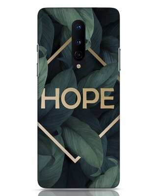 Shop Tropical Leaves Hope OnePlus 8 Mobile Cover-Front