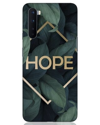 Shop Tropical Leaves Hope OnePlus Nord Mobile Cover-Front