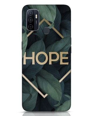 Shop Tropical Leaves Hope Oppo A53 Mobile Cover-Front