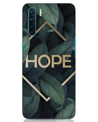 Shop Tropical Leaves Hope Oppo F15 Mobile Cover-Front