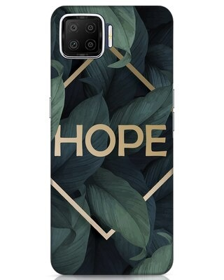 Shop Tropical Leaves Hope Oppo F17 Mobile Cover-Front