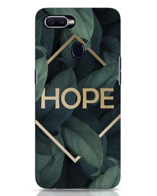 Shop Tropical Leaves Hope Oppo F9 Pro Mobile Cover-Front