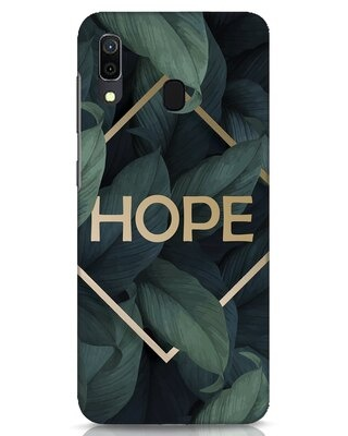 Shop Tropical Leaves Hope Samsung Galaxy A30 Mobile Cover-Front