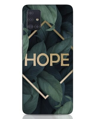 Shop Tropical Leaves Hope Samsung Galaxy A51 Mobile Cover-Front
