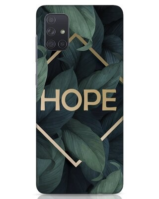 Shop Tropical Leaves Hope Samsung Galaxy A71 Mobile Cover-Front