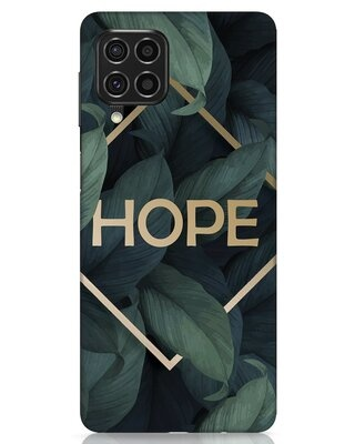 Shop Tropical Leaves Hope Samsung Galaxy F62 Mobile Cover-Front