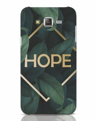 Shop Tropical Leaves Hope Samsung Galaxy J7 Mobile Cover-Front