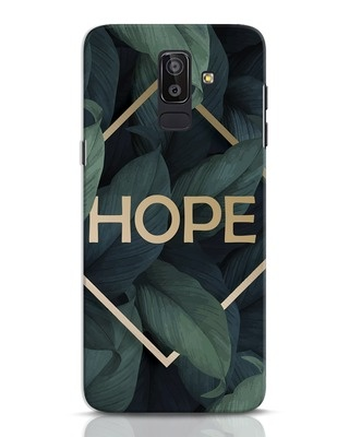 Shop Tropical Leaves Hope Samsung Galaxy J8 Mobile Cover-Front