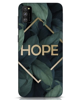 Shop Tropical Leaves Hope Samsung Galaxy M30s Mobile Cover-Front