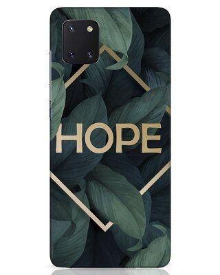 Shop Tropical Leaves Hope Samsung Galaxy Note 10 Lite Mobile Cover-Front