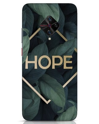 Shop Tropical Leaves Hope Vivo S1 Pro Mobile Cover-Front