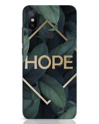 Shop Tropical Leaves Hope Xiaomi Mi A2 Mobile Cover-Front