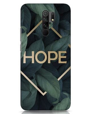 Shop Tropical Leaves Hope Xiaomi Redmi 9 Prime Mobile Cover-Front