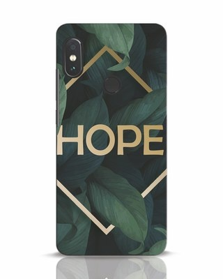 Shop Tropical Leaves Hope Xiaomi Redmi Note 5 Pro Mobile Cover-Front