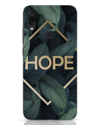 Shop Tropical Leaves Hope Xiaomi Redmi Note 7 Mobile Cover-Front