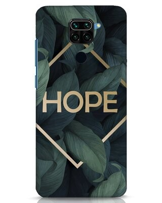Shop Tropical Leaves Hope Xiaomi Redmi Note 9 Mobile Cover-Front