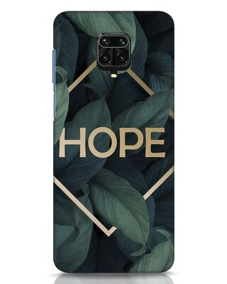 Shop Tropical Leaves Hope Xiaomi Redmi Note 9 Pro Mobile Cover-Front