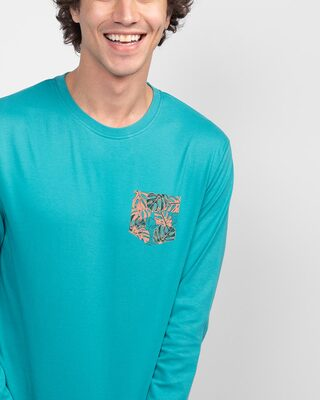 Shop Tropical Pocket Full Sleeve T-Shirt-Front