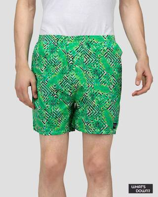Shop What's Down | Tropical Scenery Boxer Shorts | Green Forest Boxers-Front