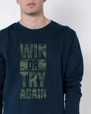 Buy Try Again Full Sleeve T-Shirt Online India @ Bewakoof.com
