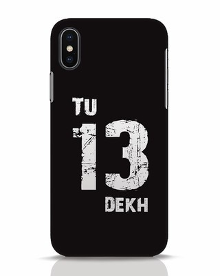 Shop Tu 13 Dekh iPhone X Mobile Cover-Front