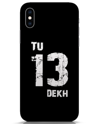 Shop Tu 13 Dekh iPhone XS Mobile Cover-Front